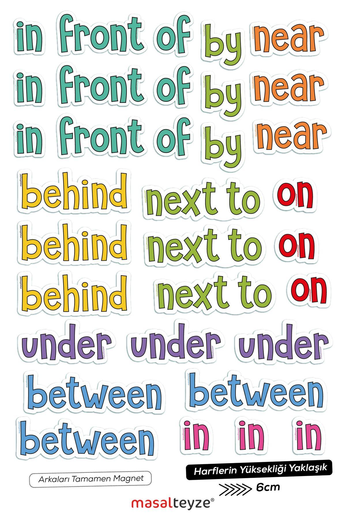 Prepositions Magnet Set 3' erli